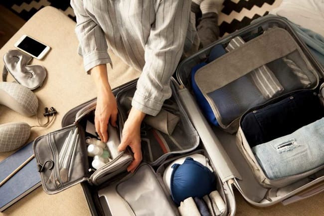 woman packing for moving
